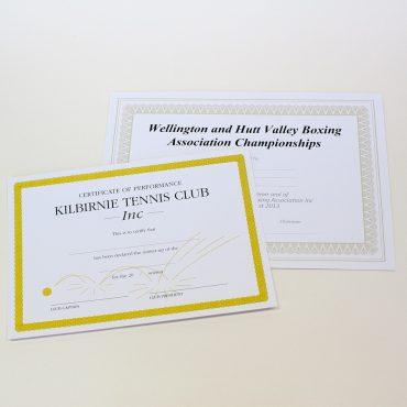 Certificates TennisBoxing