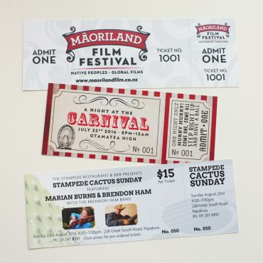 Event Tickets Various