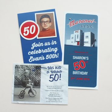 Invitation Examples - 50th Birthdays