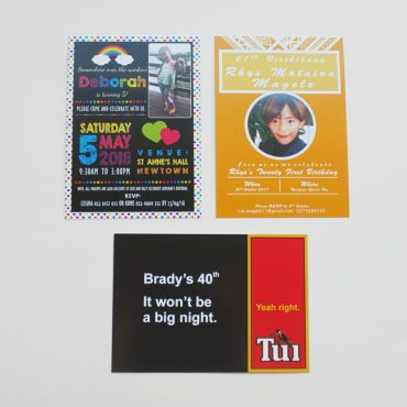 Invitation Examples - A6 Birthdays